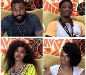 BBNaija (S4): Khafi, Tacha, Mike, Seyi up for eviction