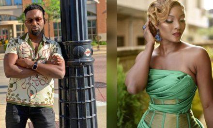Actress Osas Ighodaro's ex-husband, Gbenro Ajibade, shows off his new lover