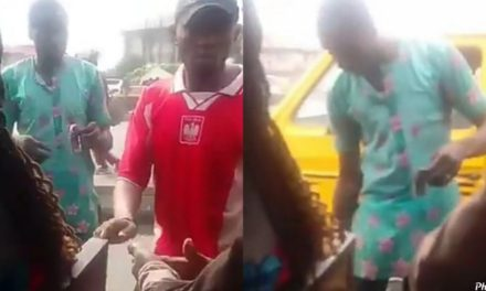 """Conductor distributes """"ogogoro"""" to his passengers as he insist they sanitize"""