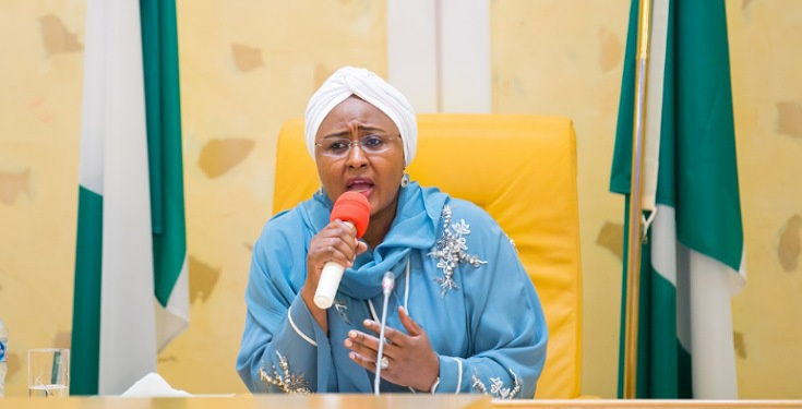 Nigerians react as Aisha Buhari says parents should also be made to stay at home alongside their children to prevent spread of coronavirus