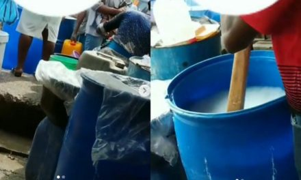 How hand sanitizers are being mixed in Ojota market surfaces online