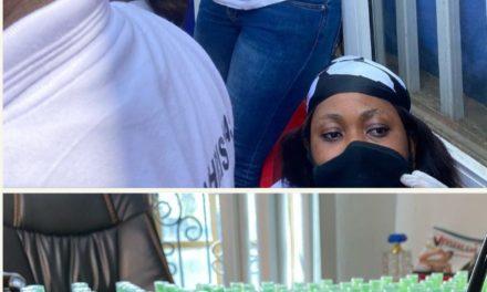 Coronavirus: Tonto Dikeh Shares Free Face Masks, Sanitizers, Hand Gloves