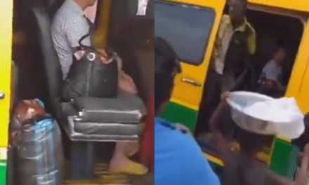 Passengers flee from bus after spotting a Chinese man on board a 'trotro' in Ghana