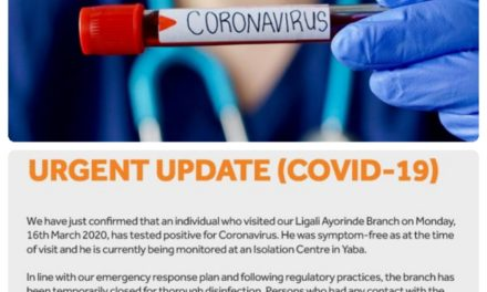 """Access Bank Shuts Down Ligali Ayorinde Branch after their """"visitor"""" tested Positive to Coronavirus"""