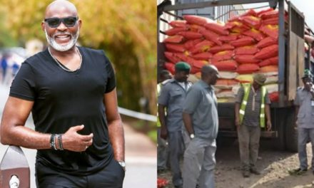 Richard Mofe-Damijo persuades Nigeria customs to give out seized food to the masses