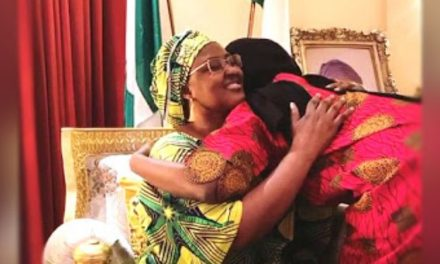 Buhari's daughter returns from isolation, reunites with family