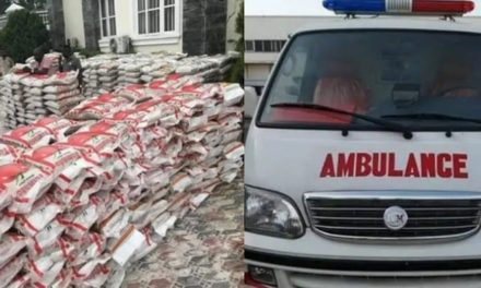 Innoson shares 1000 bags of rice, Donates Ambulance to Anambra State
