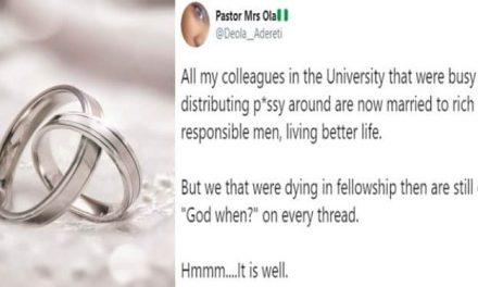 Nigerian lady says 'Runs girls' marry before 'church girls'