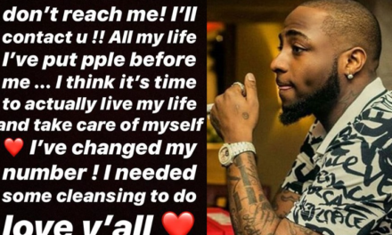 'All my life I've put people before me, it's time to live my life' – Davido says as he changes his phone number amid Peruzzi's rape scandal