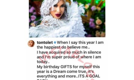 Tonto Dike Celebrates Her Accomplishments At The Age Of 35