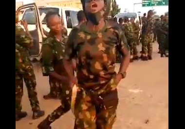 Disturbing video purportedly shows newly recruited soldiers vowing to deal with Nigerian civilians