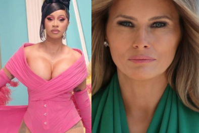 """Cardi B shares naked photo of US First Lady after political correspondent DeAnna Lorraine said """"America needs more women like Melania Trump and less like Cardi B"""""""