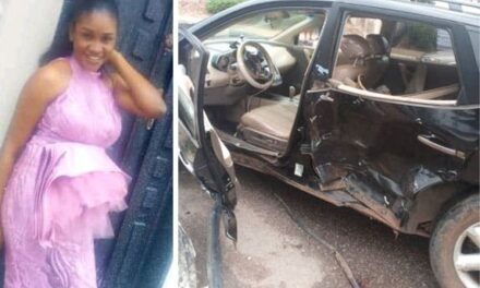 Lady killed, her baby injured as police chase suspected 'Yahoo Boy' in Benin City.