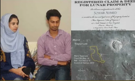 A man in Pakistan bought a piece of land on the moon for his wife