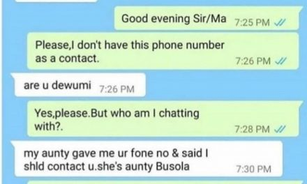 Chat between a woman and a younger person who needed her help sparks debate