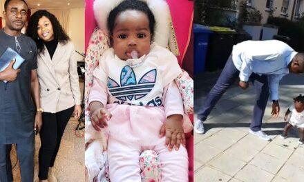 """Never knew babies can walk at 8 months"" – Emeka Ike praises daughter, Oluchi"