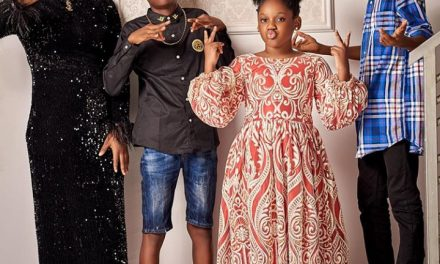 Adorable photos of Tuface Idibia, his wife Annie, and his kids at his 45th birthday party