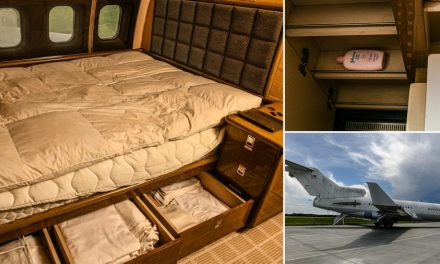 inside Jeffrey Epstein's rusting private jet he used in sex trafficking his victims around the world