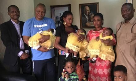 Nigerian woman delivers a baby girl just five months after giving birth to a set of twins
