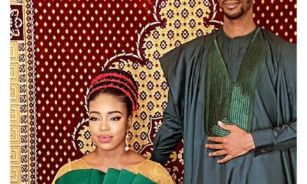 """El-Rufai's son, Bashir, posted his pre-wedding photo with his wife to be whom he called """"Nwakaego""""."""