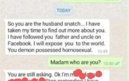 Nigerian woman finds out about her husband's gay lover and contacts him