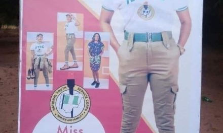 Family prints banner to welcome daughter from NYSC