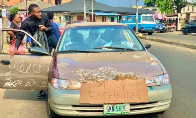 Christmas spirit : Nigerian Driver goes viral after offering free rides in Port Harcourt
